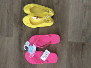 Brand new Size 12 Girls Gap shoes/ children's place flip flops