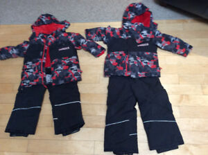 2 x snow suits for twins
