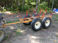ATV trailer Logs Haller hevy duty made