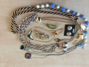 Lot bijoux de fantaisie vintage costume jewelry