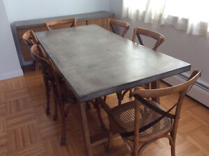 Complete Modern Dining Set - Concrete Surfaces