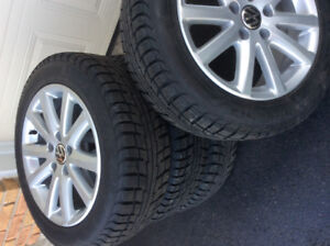 Golf/Jetta winter tires and rims for sale.