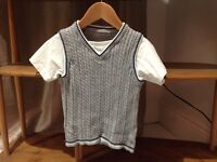 18-24 mth short sleeve jumper t- shirt all in one