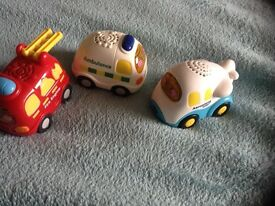 Three toot toot cars