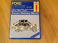 HAYNES FORD ESCORT '75 to 80 MANUAL