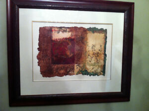 Original Oil Painting on Handmade Chiffon Paper by Michel Dupon