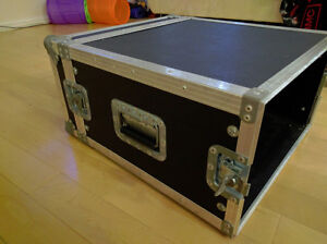 Guitar/Bass gear 6 space rack case