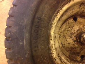 1 lawn tractor tire15x6.00-6