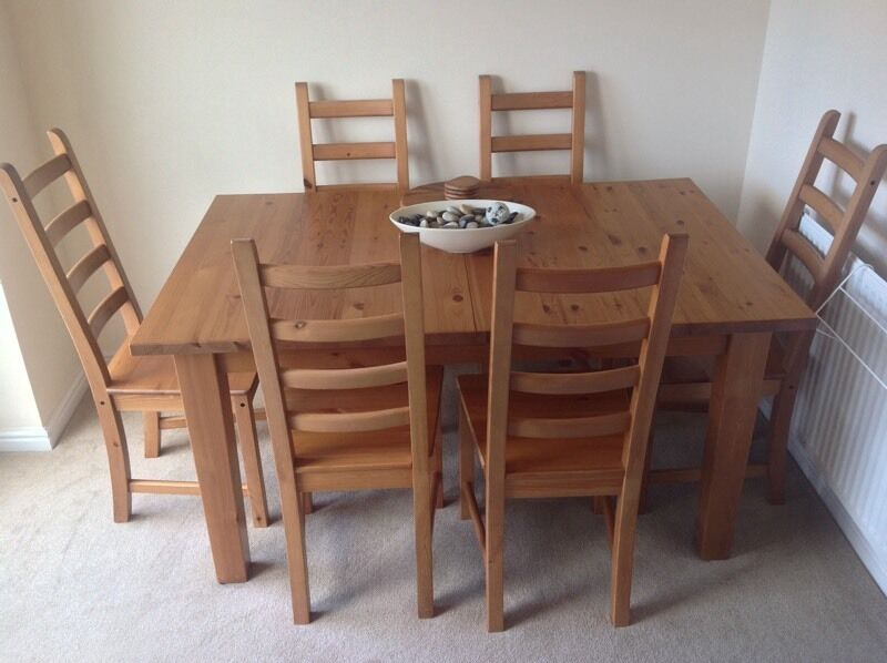 Oak Dining Table amp Chairs in Sunderland Tyne and Wear  : 86 from gumtree.com size 800 x 598 jpeg 55kB