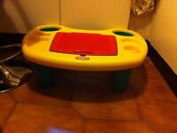 Little tikes activity table, board to play with Lego compatible bricks