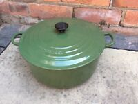 Le Creuset 28 cm Cast Iron Casserole Green