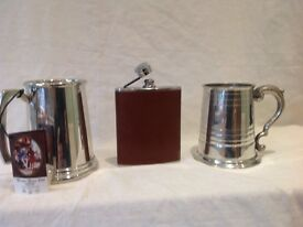 Tankards and Hip flask