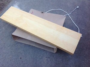 "MAPLE REAL WOOD SHELF WITH LIGHT ATTACHED 43.5""L X 10.25""W Oakville / Halton Region Toronto (GTA) image 1"