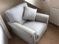 John Lewis cavendish silver scatter sofa and chair