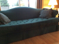 Couch & wing back chairs