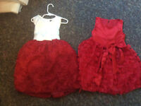 2 red dresses 5T good for Christmas!!