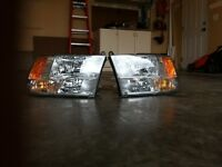 Ram 1500 Headlights OEM 2012 quad