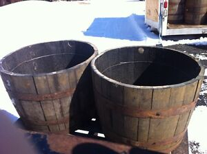 HALF Whiskey Barrel PLANTERS Incl Delivery to Ottawa $85.00 EACH