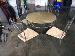 """44"""" table and4 chairs"""