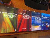 Set of 4 Adobe CS4 books Photoshop Flash Dreamweaver