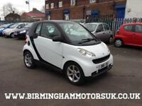 2008 (08 Reg) Smart ForTwo CABRIO PULSE 71BHP 2DR Coupe WHITE + 2 KEYS