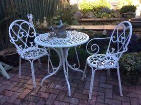 White aluminium Garden Patio Set