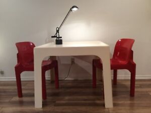 1960s Vintage Dining Table-Salle a Manger Space Age 1960