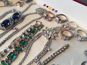 Vintage antique sterling silver gemstone crystal ladies jewelry Windsor Region Ontario image 3