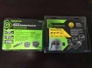 Greenlee knockout punch set and kit