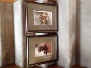 Jim Lamb Framed Puppy Prints