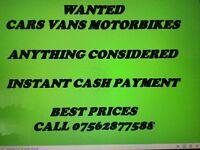 We buy cars and vans