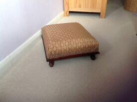 Reupholstered Victorian Footstool