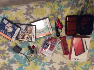 Nintendo DS neuf et 3 jeux (math, brainedge, dancing with stars)