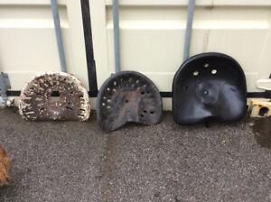 3 Antique tractor seats !