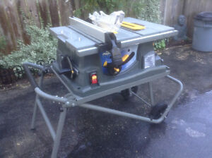 "Mastercraft Maxim  10""  table saw including a folding stand"