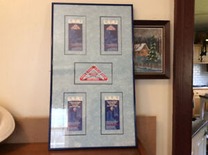 (4) VINTAGE 1993 NHL ALL STAR GAME FRAMED TICKETS