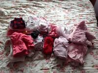 Large 0-3 months and 3-6 months baby girl clothes bundle