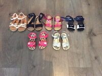 Girls sandals bundle sizes from 7 upto 11