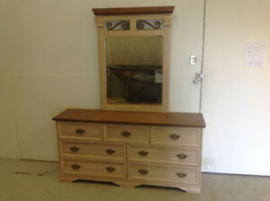DRESSER, MIRROR ,HEADBOARD,NIGHT TABLE