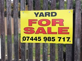 Yard for sale Kennoway £75.000 Ono