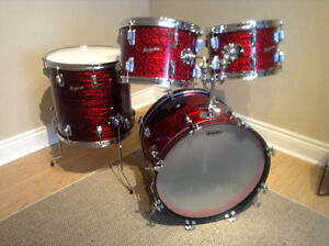 Red Onyx finish Rogers 'Holiday' Drums available in the City