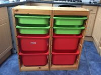 Ikea Trofast Storage Units with Boxes
