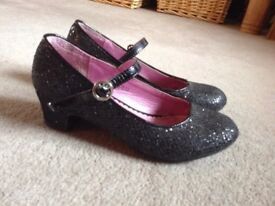 Girls black shoes size 2