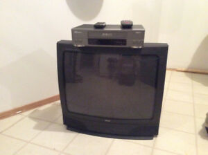 25 in. RCA TV & Sears VHS Player with purchase of Tapes @ $75.00