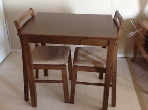 Apartment Size Dining Table and Two Chairs