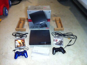 Sony PS3 250GB Console w/ 2 games & cables