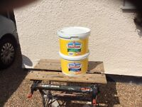 New and unused Sandtex 10L Cornish cream smooth masonry paint