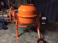 New unused cement mixer