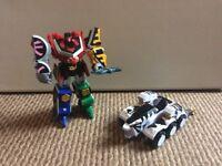 Power rangers megazord and white zord