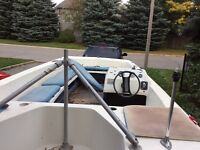 $175 Deck boat w/trailer and 90hp motor